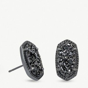Kendra Scott | Ellie Gunmetal Stud Earrings NWT